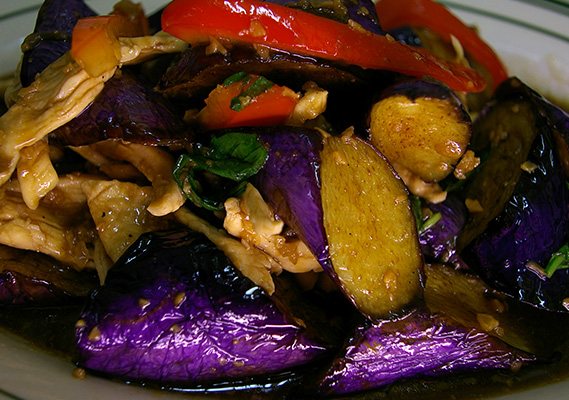 STIR FRIED EGGPLANT **