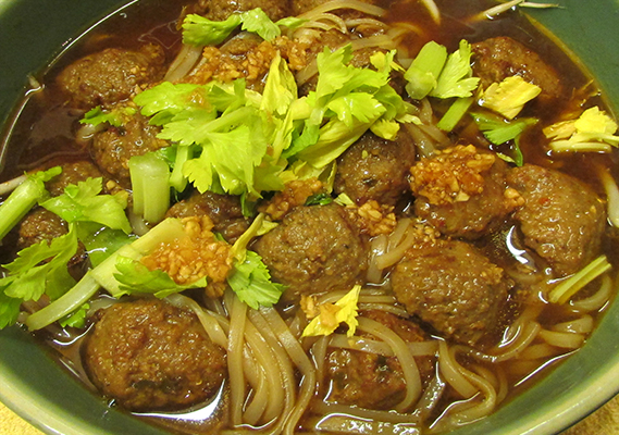 SPICY MEATBALLS NOODLE SOUP*