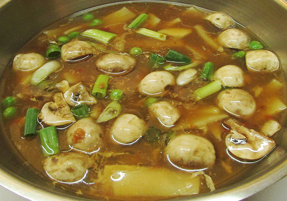 HOT AND SOUR SOUP - VEGETARIAN *